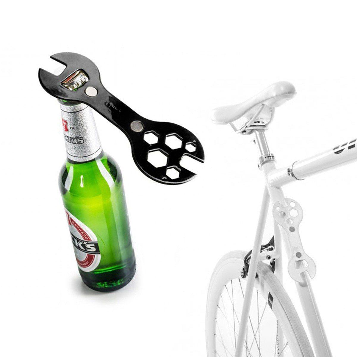 2in1: Fahrradschlüssel & Flaschenöffner