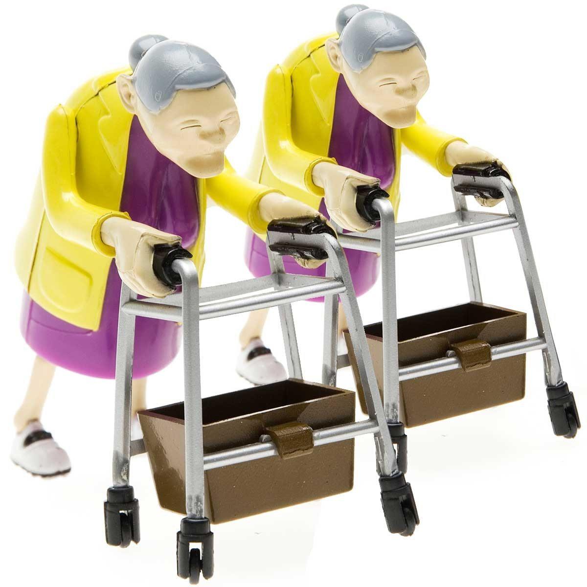Aufzieh-Oma im Doppelpack