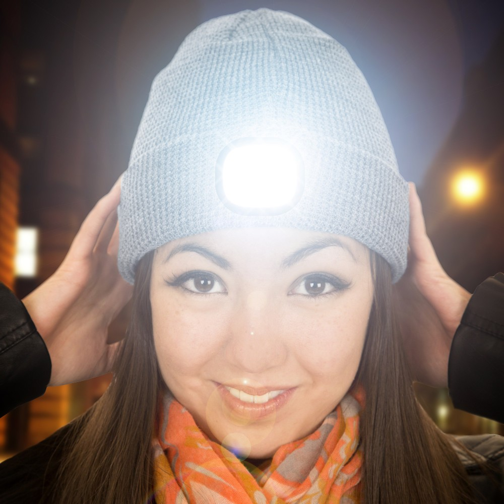 Beamie - Mütze & Stirnlampe in einem