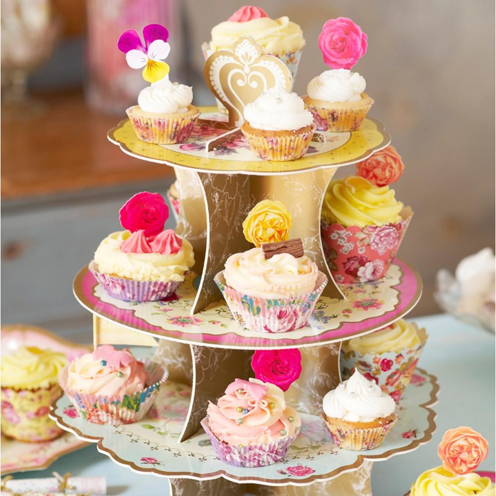 Farbenfroher Cupcake-Ständer