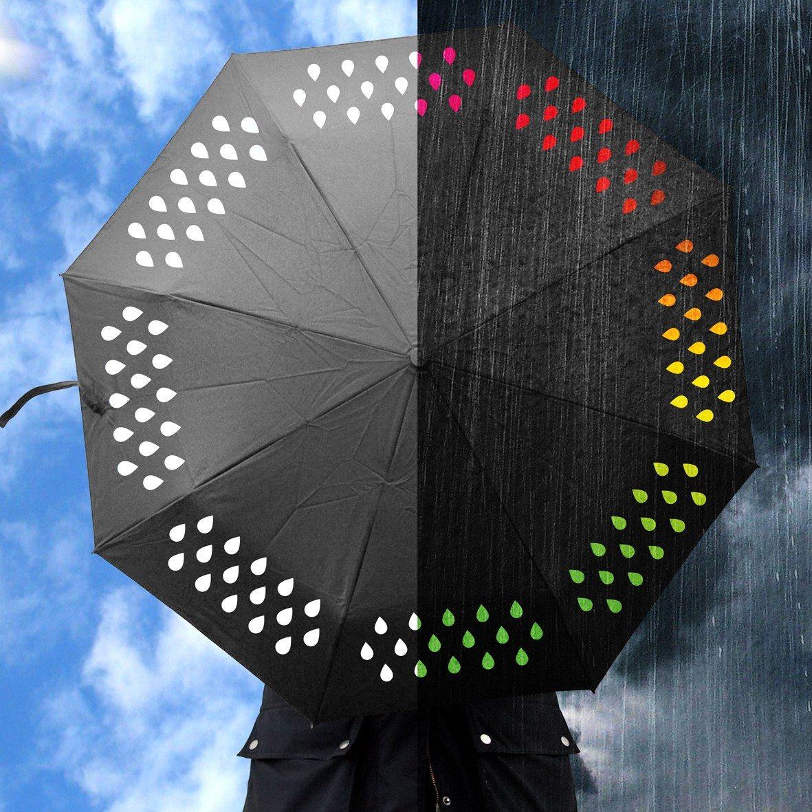 Farbwechselnder Regenschirm