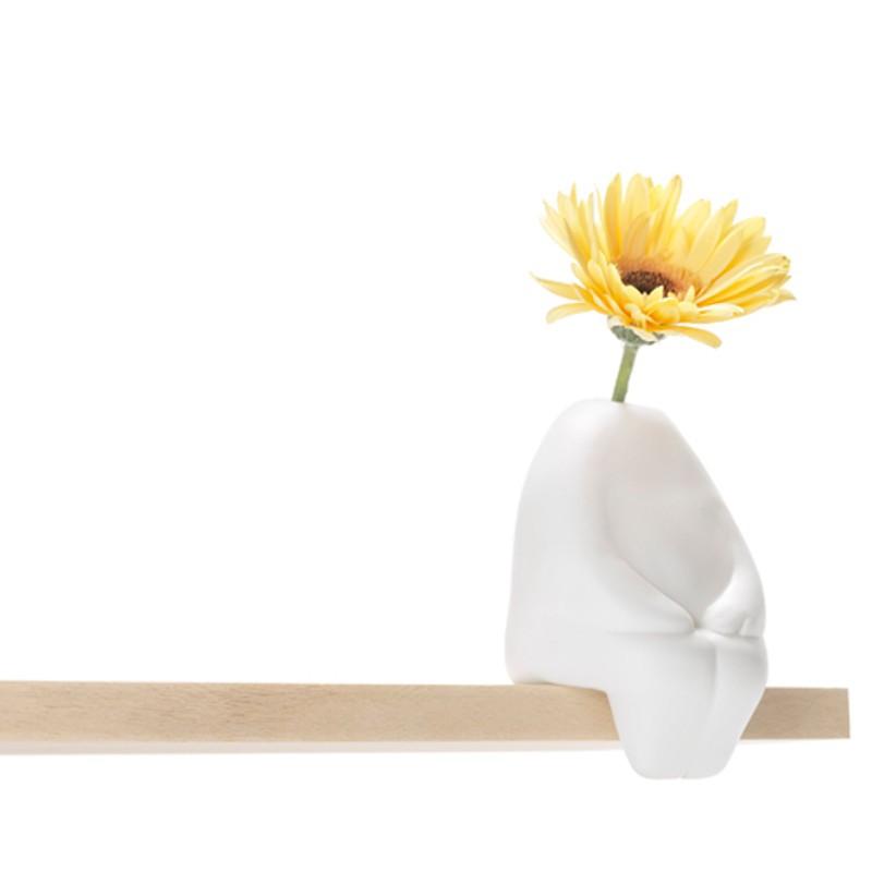 "Flowerman – Design-Vase ""sitzend"""