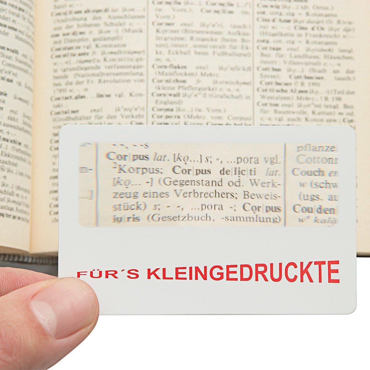 Fürs Kleingedruckte - Scheckkarten-Lupe