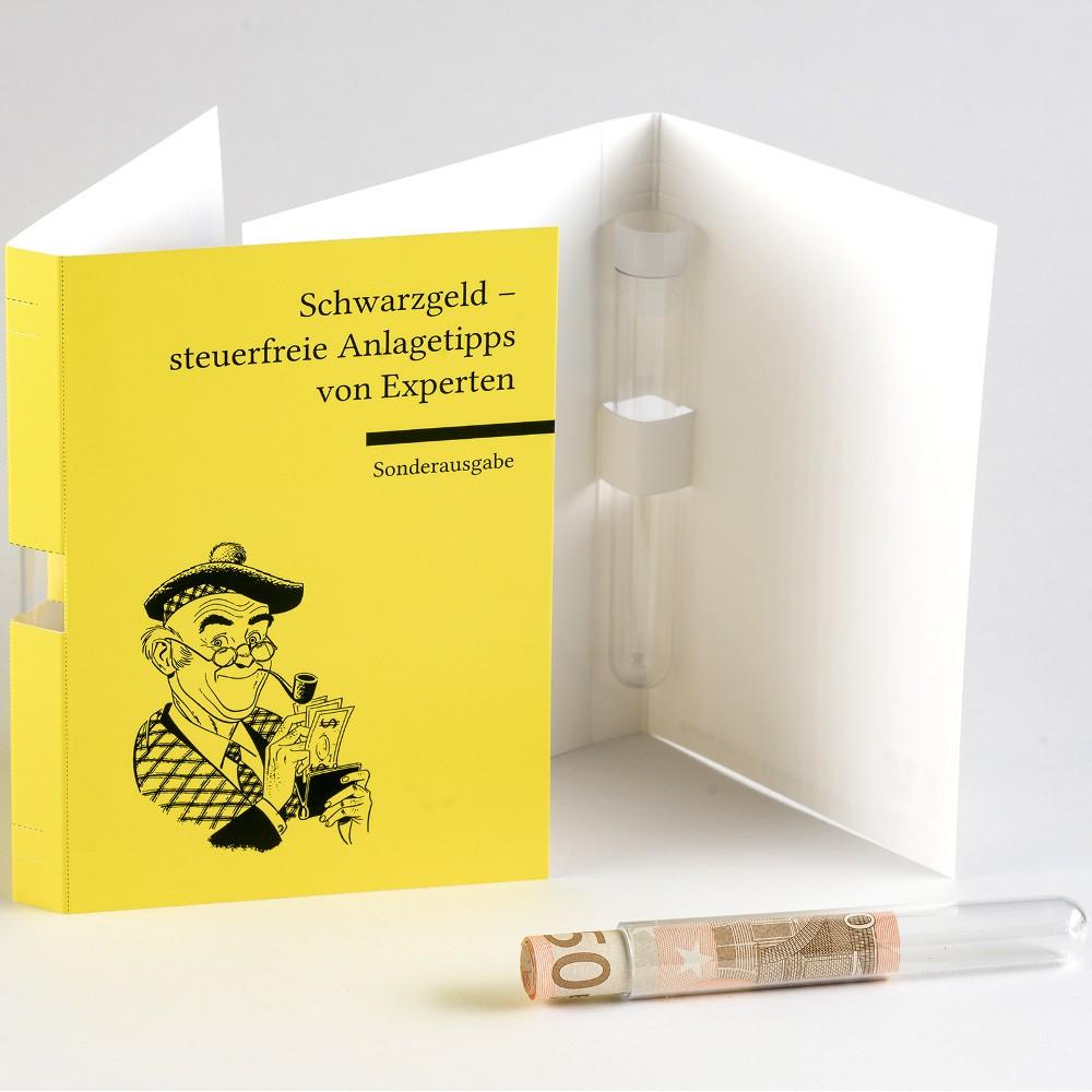 """Glückwunschkarte """"Buch"""" für Geldgeschenke"""