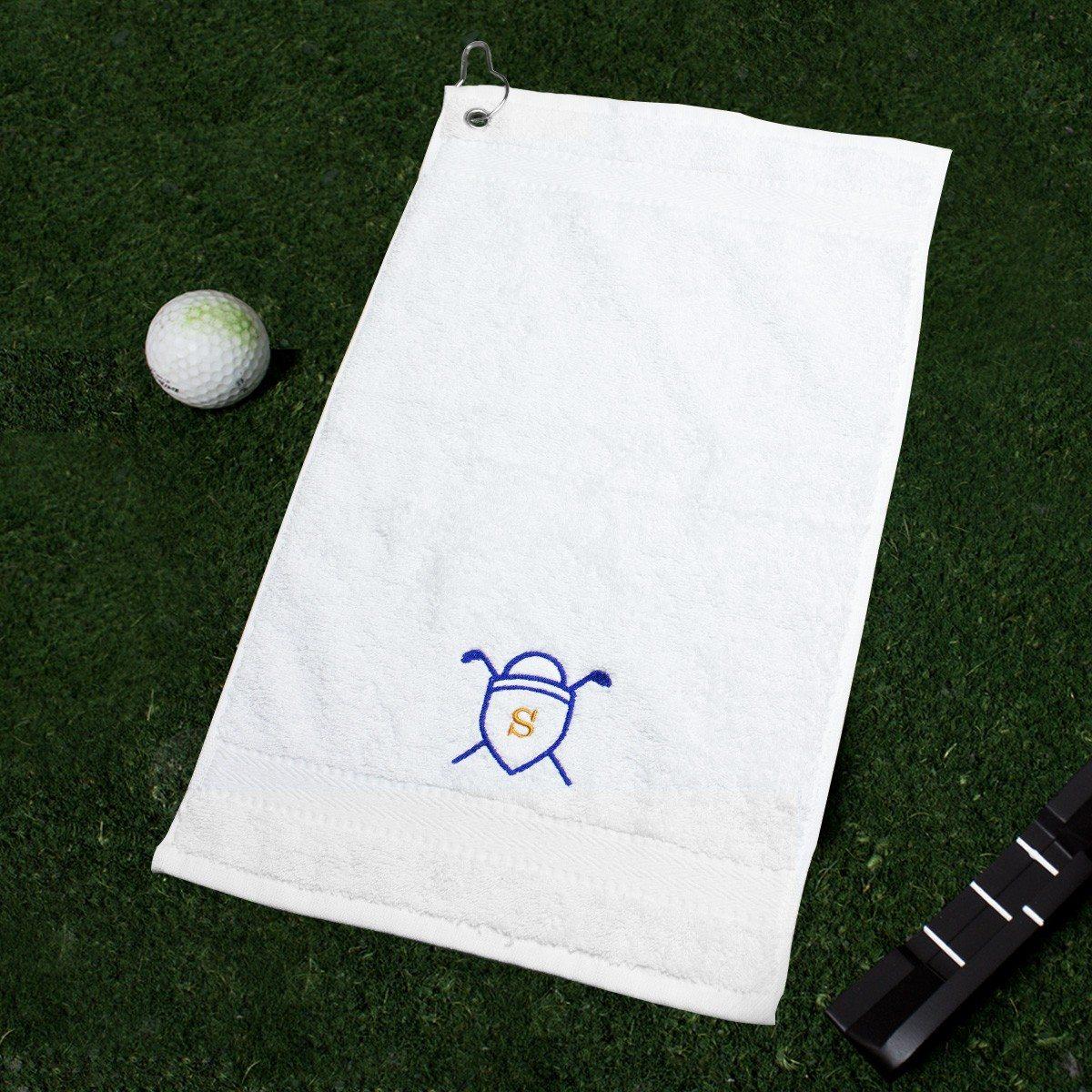Golftuch mit Bestickung