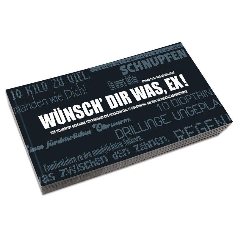 "Gutscheinbuch ""Wünsch dir was, Ex!"""