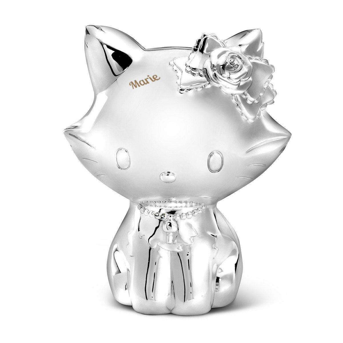 Hello Kitty - Versilberte Spardose mit Gravur