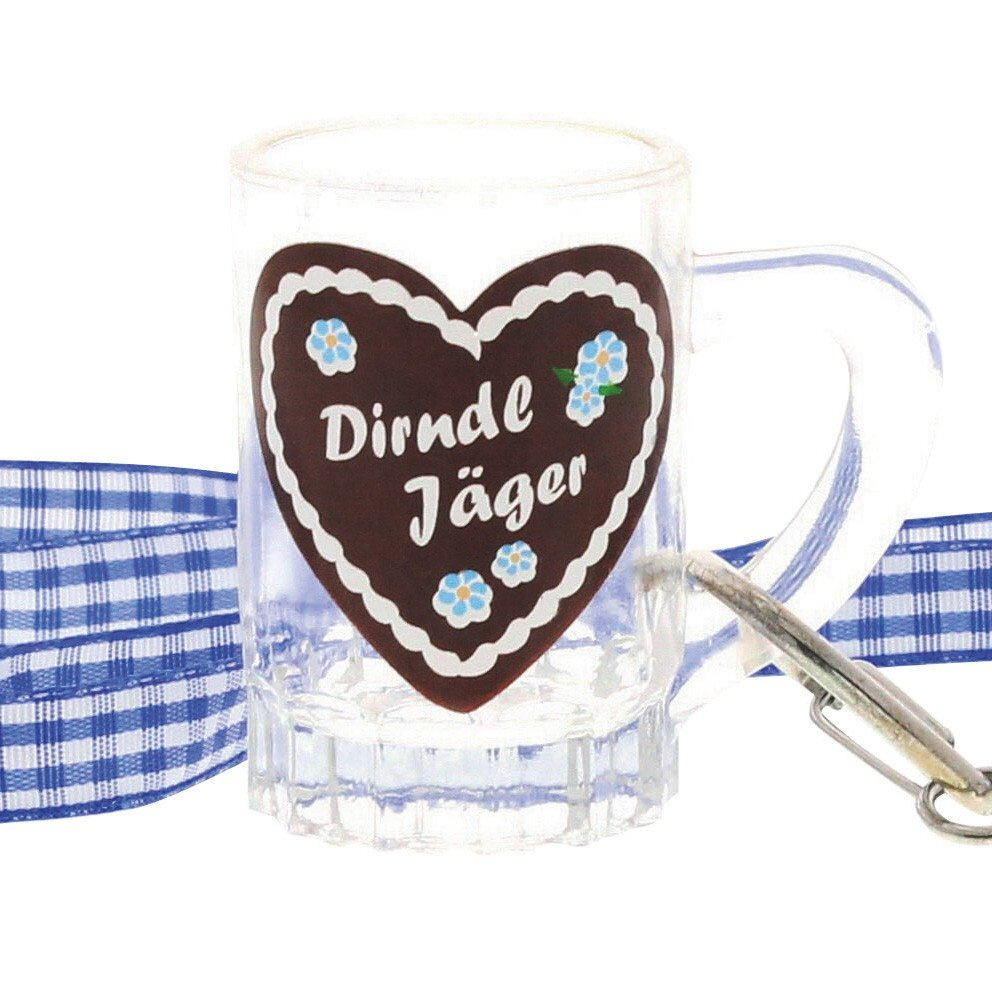 "Hüttengaudi-Schnapsglas ""Dirndl Jäger"""