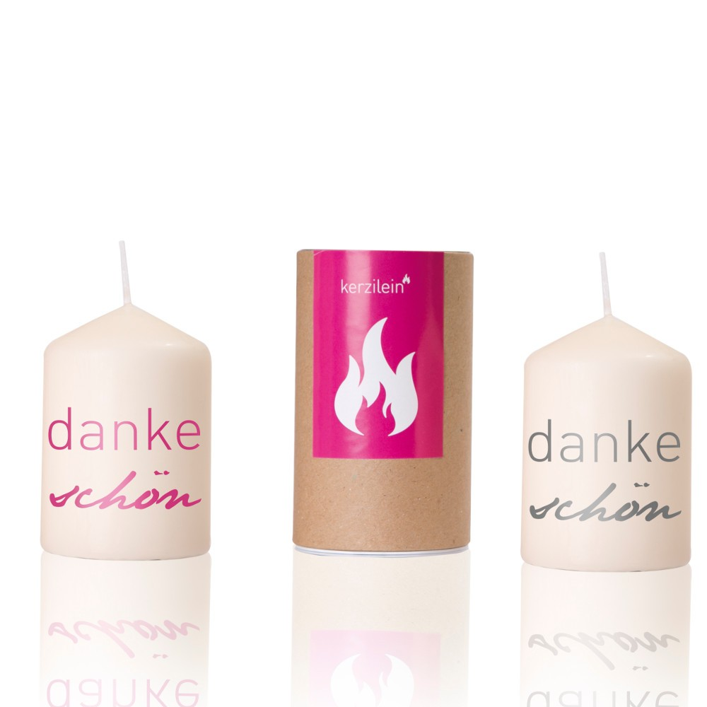 "Kerze ""dankeschön"""