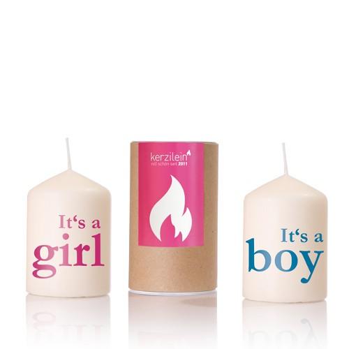 Kerze zur Geburt
