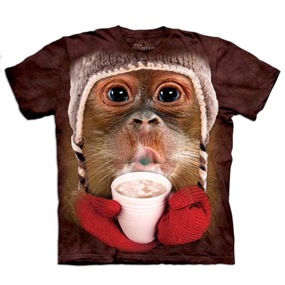 Kinder-T-Shirt Big Face Orang-Utan