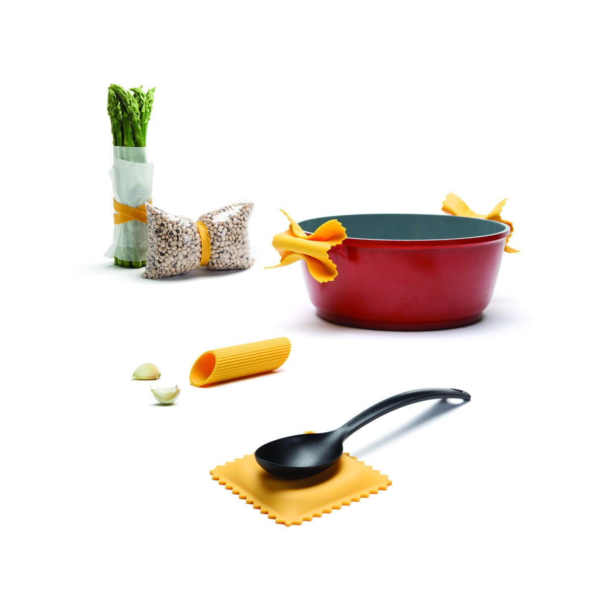 Küchenhelfer im Pasta-Design