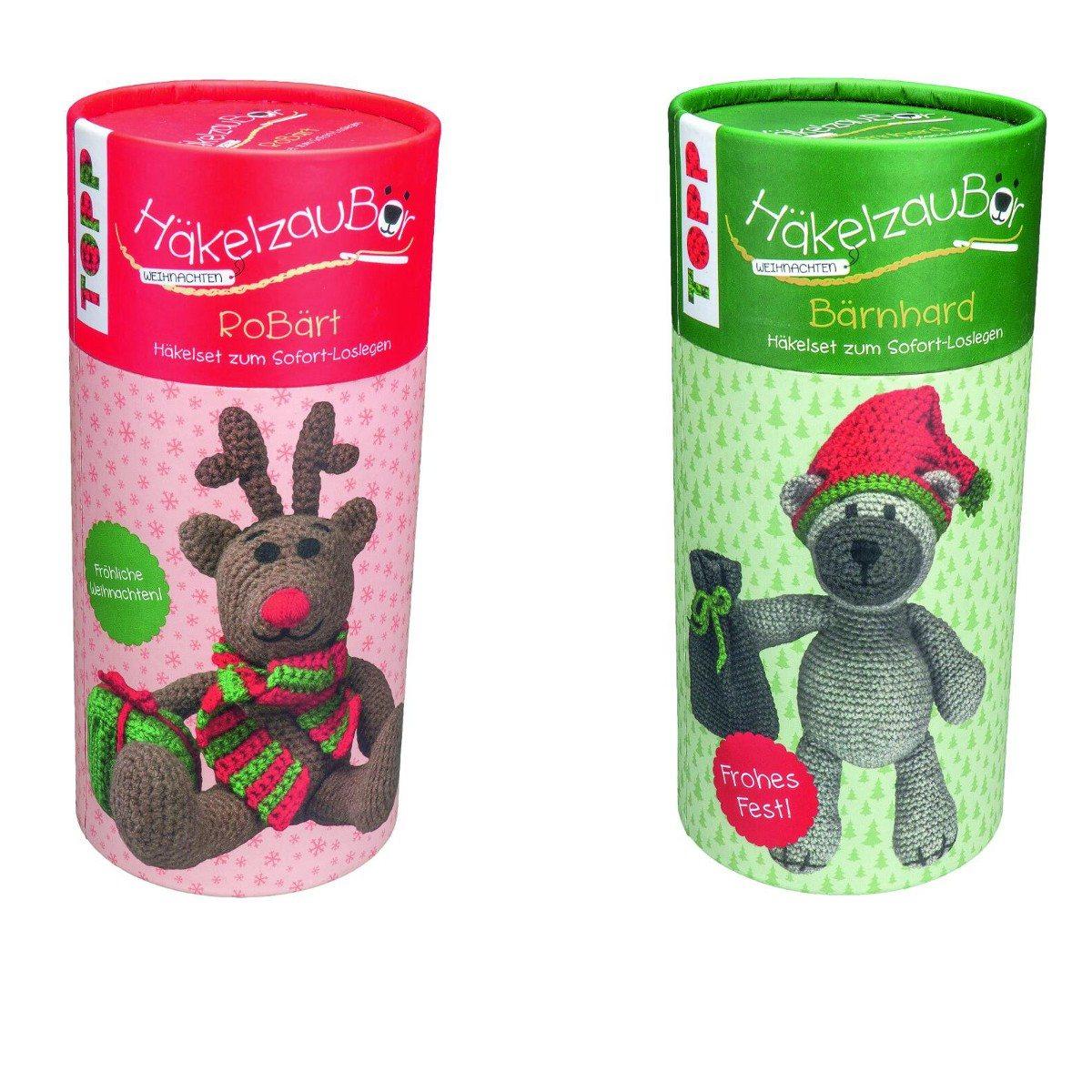 Kuscheliger Häkelbär zu Weihnachten