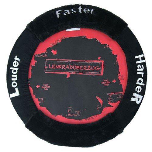 "Lenkradbezug ""Faster harder louder"""