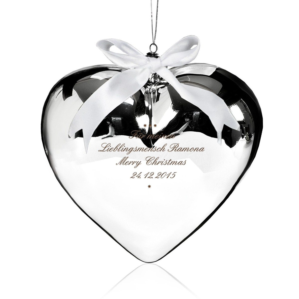 Liebesgeschenk: Glasherz mit Gravur