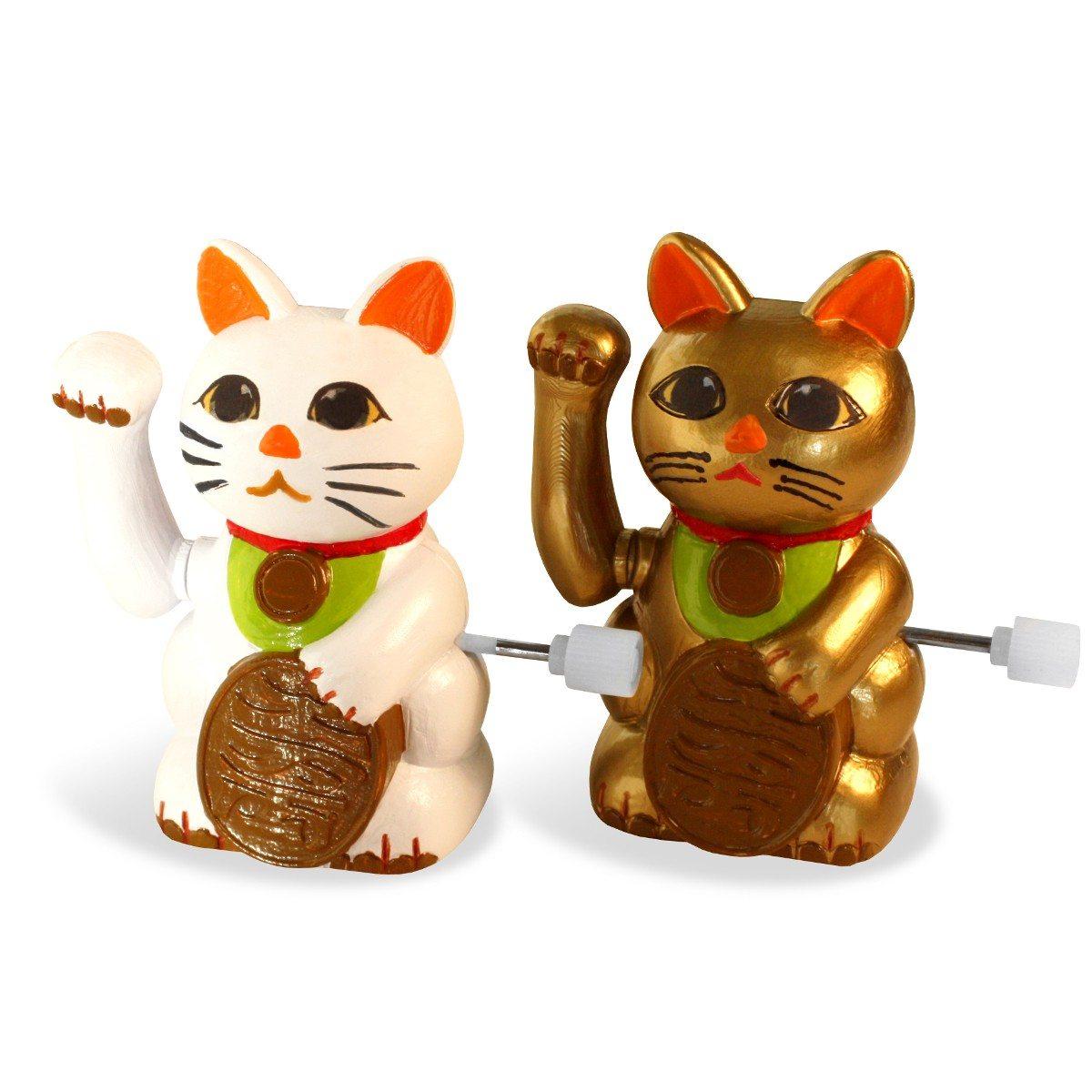 Lucky Cats: Aufziehbare Glückskatzen im 2er-Set