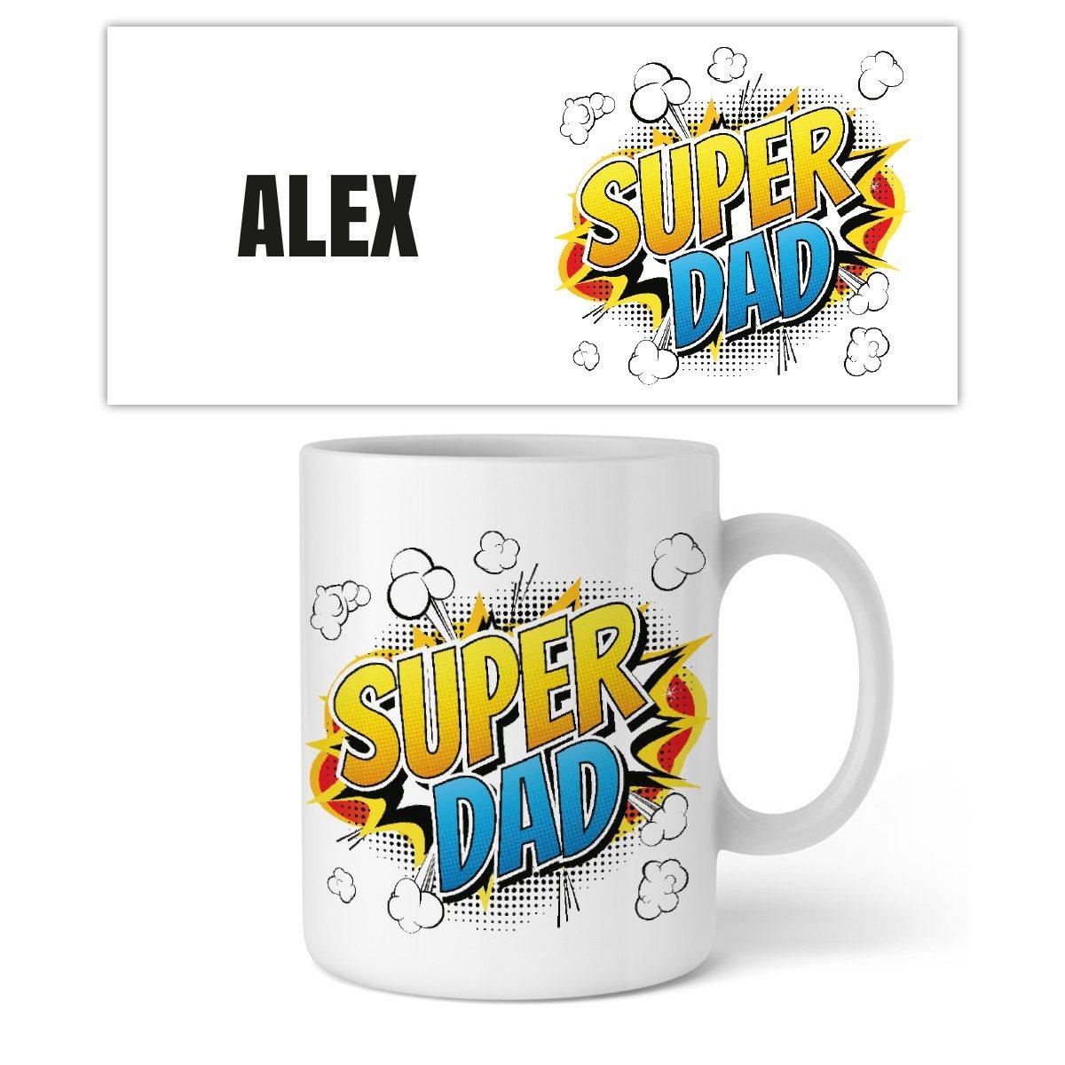 "Personalisierbare Tasse ""Super Dad"""