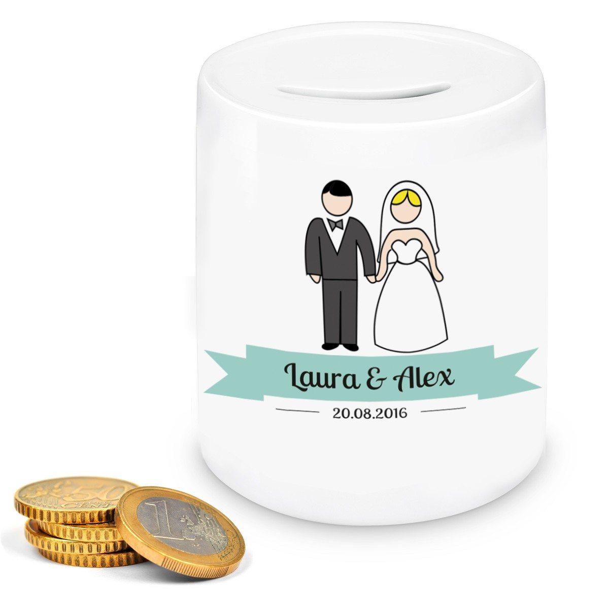 Persönliche Hochzeits-Spardose