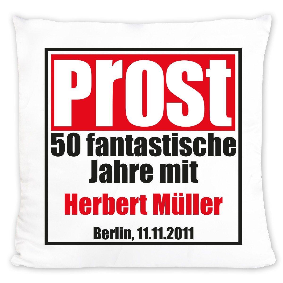 """Persönliches Geburtstagskissen """"Prost!"""""""