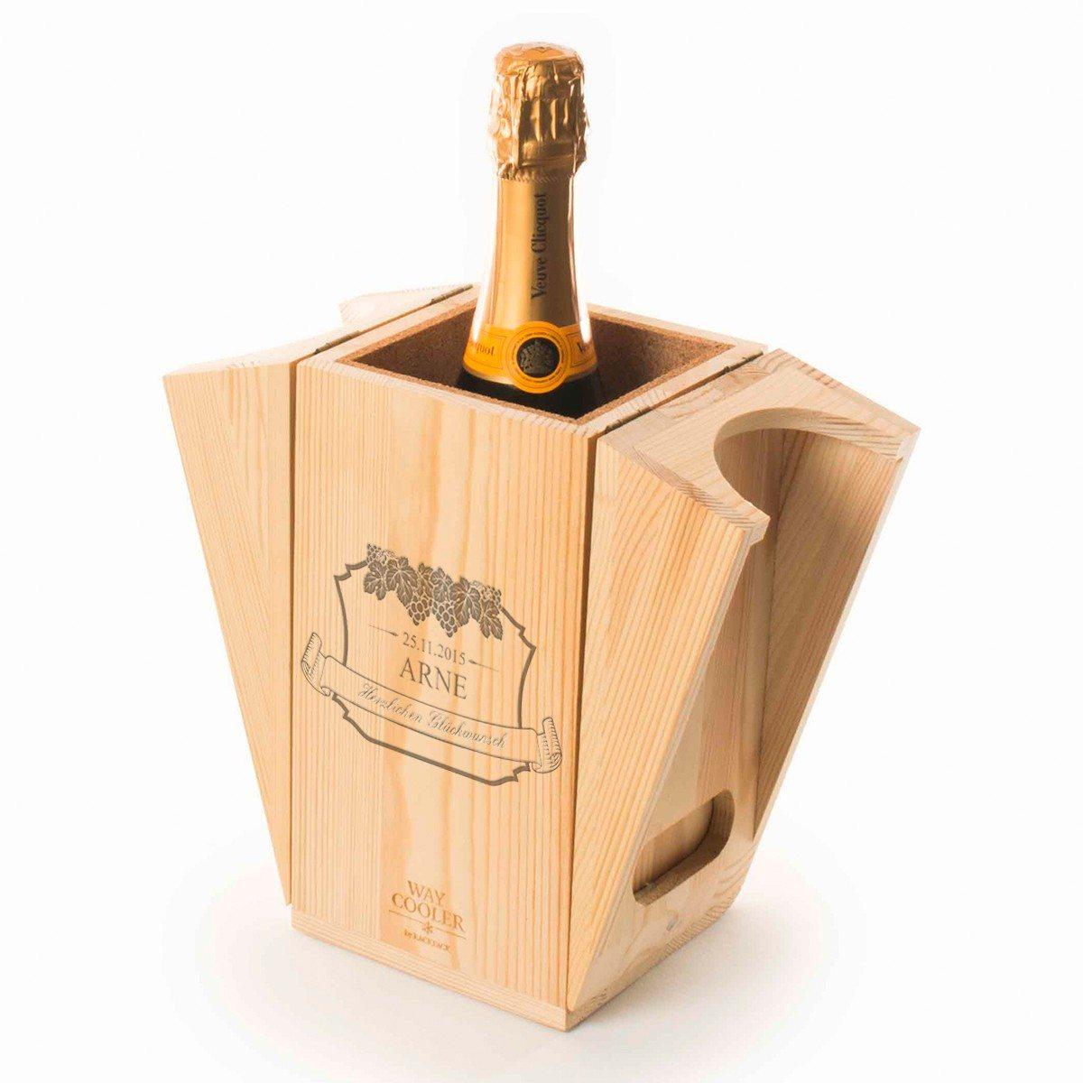 RACKPACK – gravierte Geschenkbox mit Kühlung für Wein