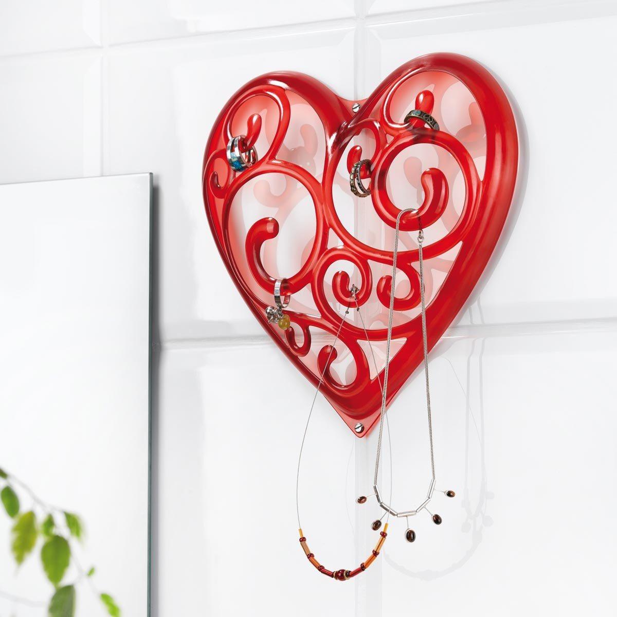 Schmuckständer Herz rot