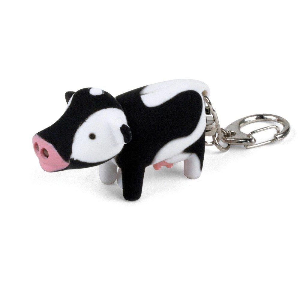 Tierische LED Schlüsselanhänger Kuh verpackt