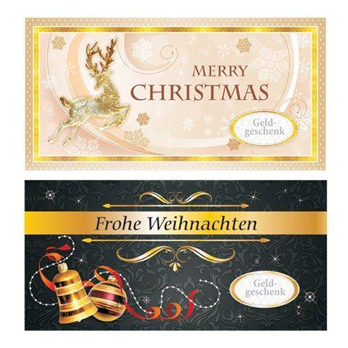 Umschlag für Geldgeschenk - Weihnachten