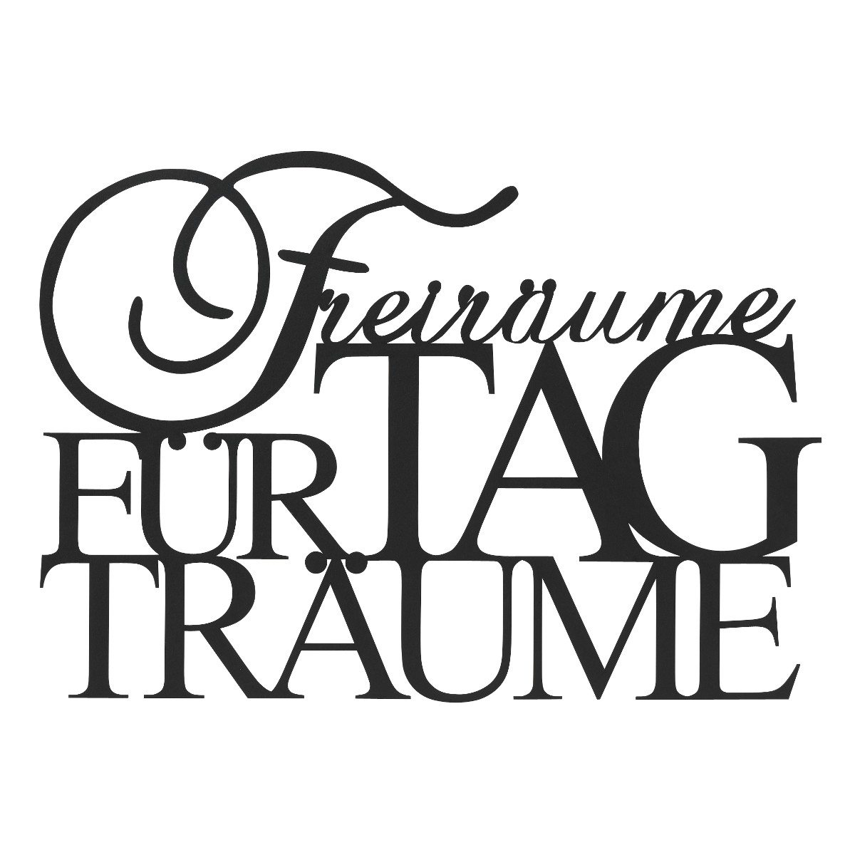 "Wandpoesie ""Freiräume"""