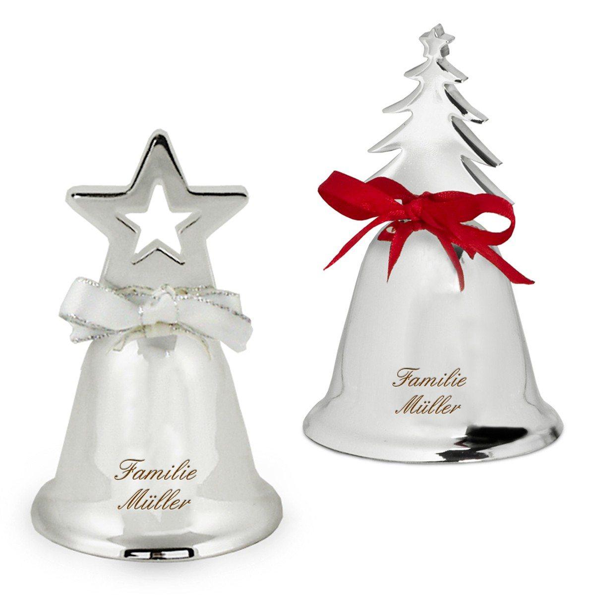 Weihnachtliche Tischglocke mit Gravur