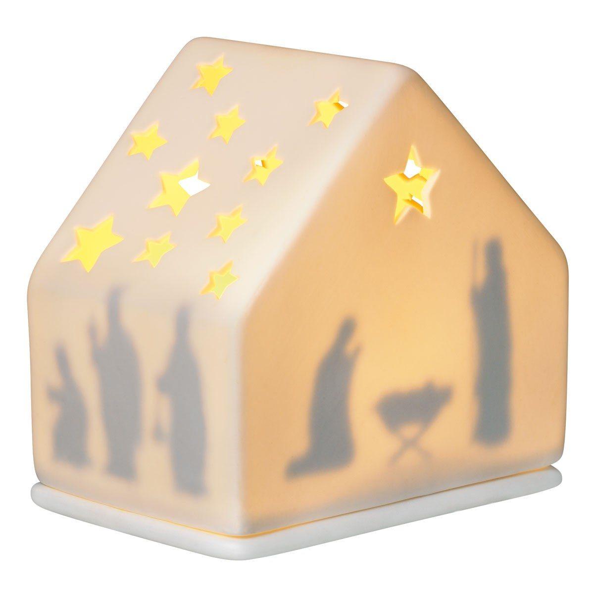 Weihnachtliches Windlicht - Krippe