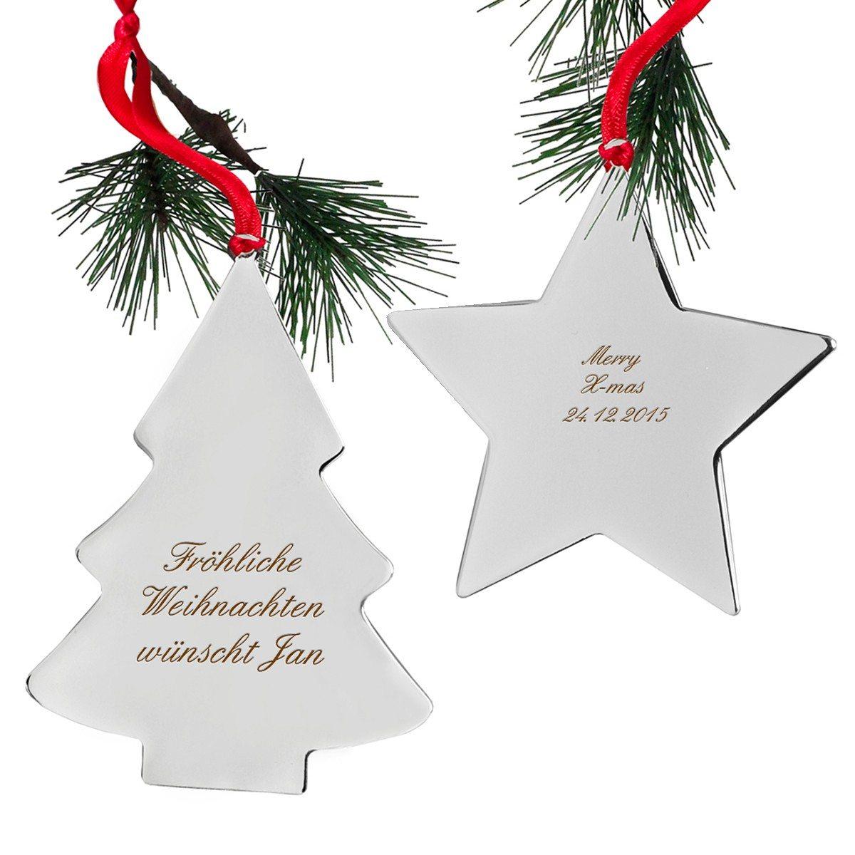 Weihnachtsbaumschmuck mit Gravur