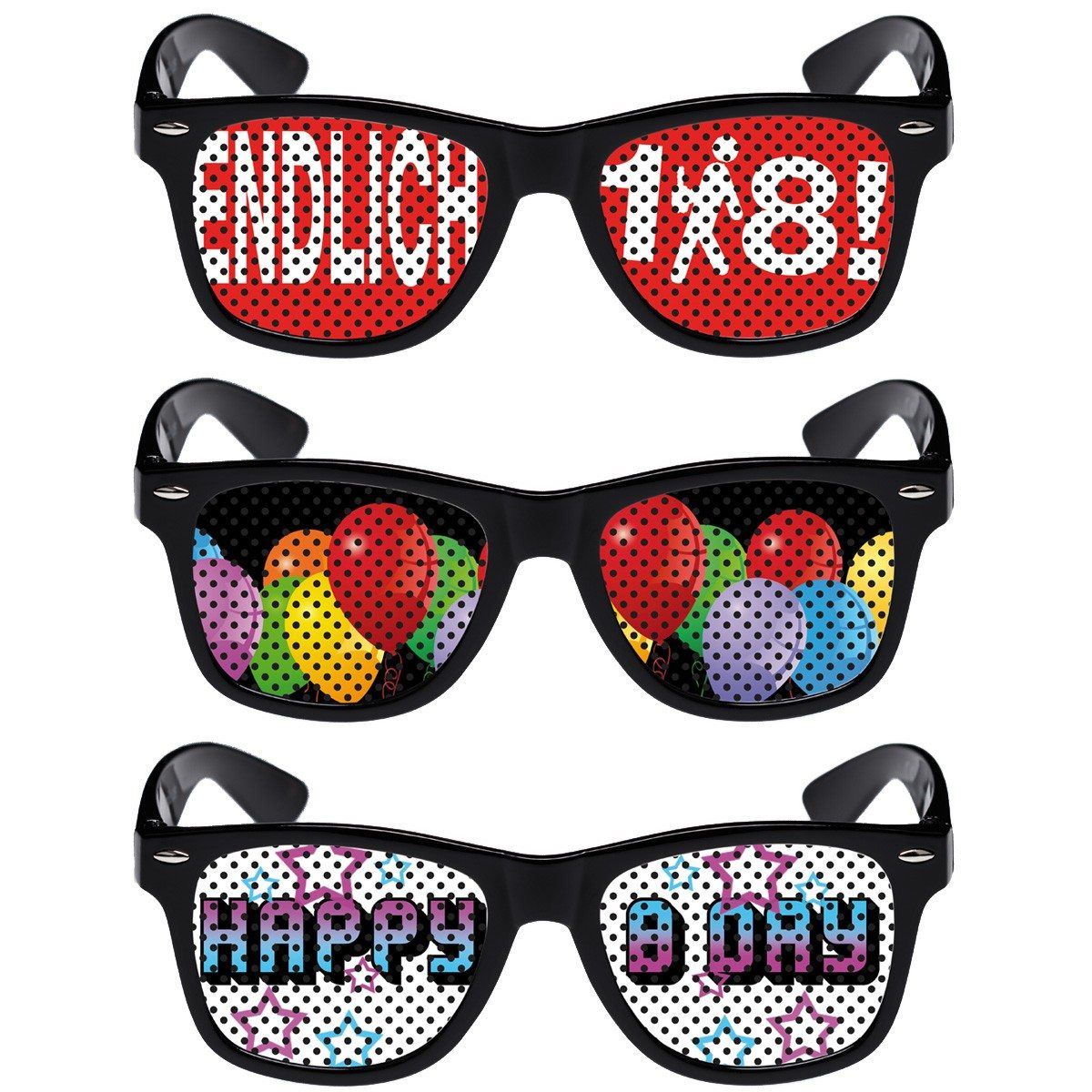Witzige Brillen -Geburtstag