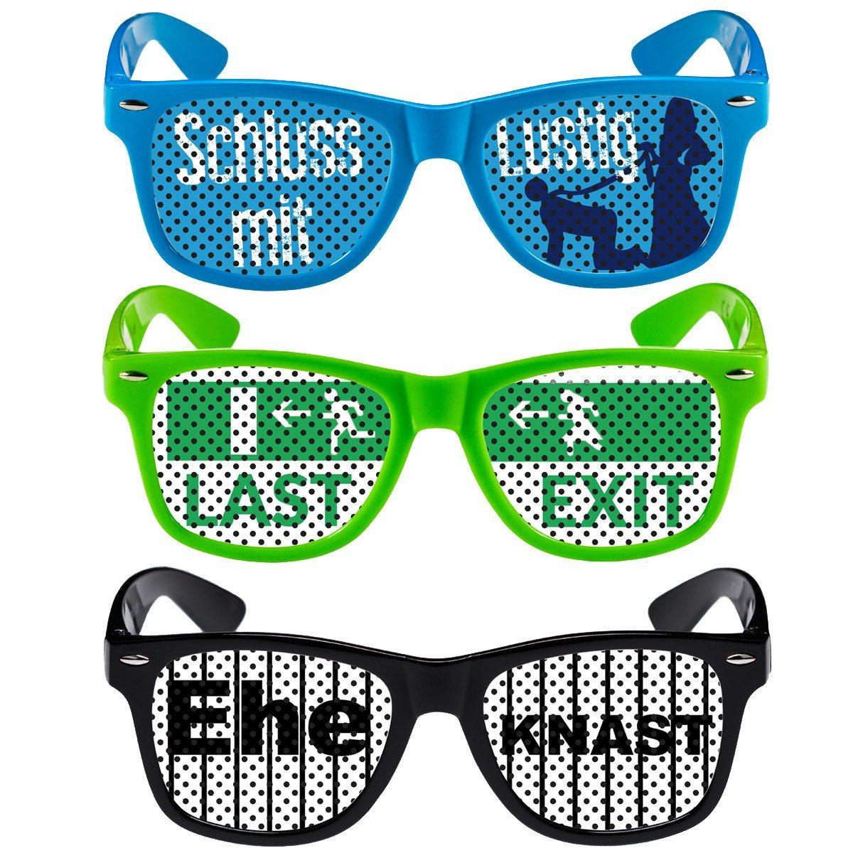 Witzige Brillen -Junggesellenabschied